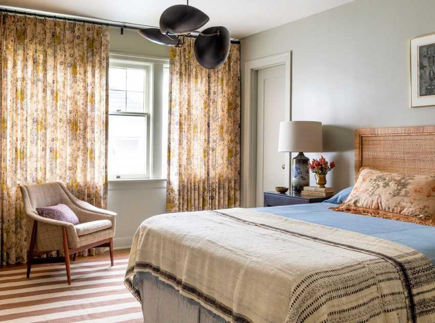 Дизайн штор для спальни: лучшие идеи по сочетанию. 150 фото новинок штор в интерьере спальни