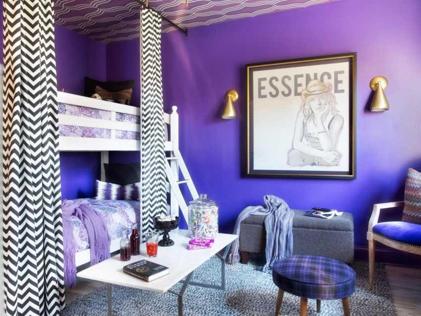Фиолетовая спальня — 150 фото красивых решений дизайна спальни в фиолетовых тонах