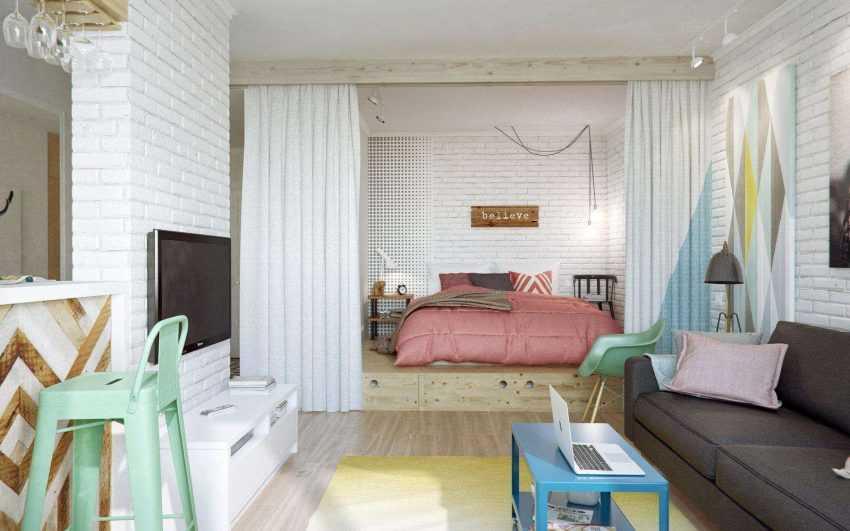 Перегородка в спальне — примеры удачного зонирования. 100 фото новинок дизайна спальни с перегородкой