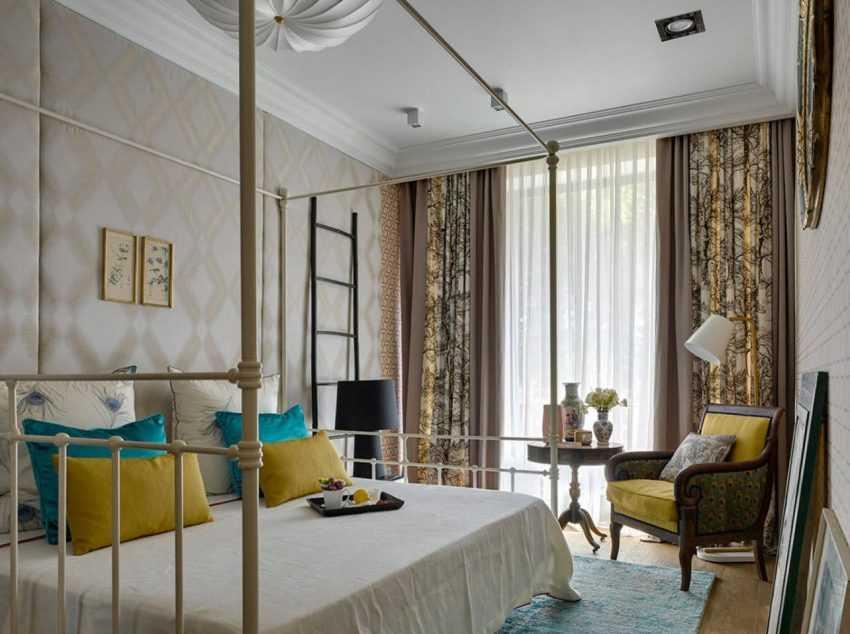 Шторы в интерьере спальни: ТОП-200 фото новинок дизайна
