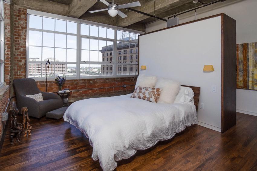 Спальня в стиле лофт — 150 фото идеального оформления дизайна (новинки 2020 года)