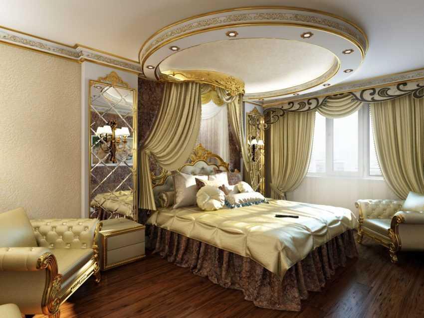 Золотая спальня — эксклюзивные варианты сочетания и дизайна (100 фото)