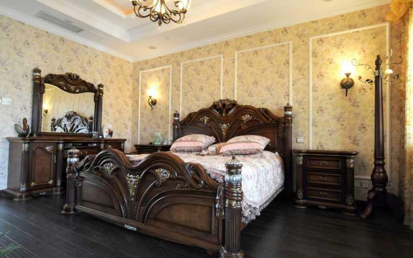 Комбинирование обоев в спальне — лучшие идеи сочетания цвета обоев в интерьере спальни (140 фото)