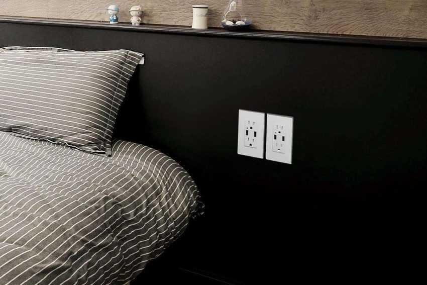 Розетки в спальне: где и как размещать? Все особенности установки розеток от А до Я