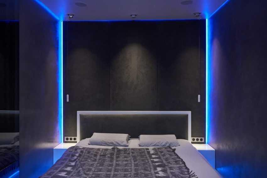 Спальня в стиле Хай-Тек (Hi-Tech) — все тонкости оформления и сочетания дизайна (200 фото)