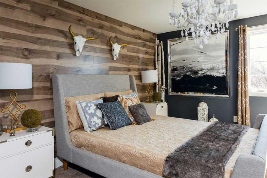 Стены в спальне (120 фото) — лучшие идеи отделки и современного дизайна